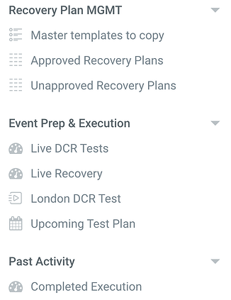 recovery plan mgmt