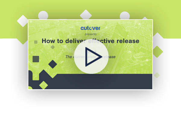 How to deliver effective release: The current state of release webinar.